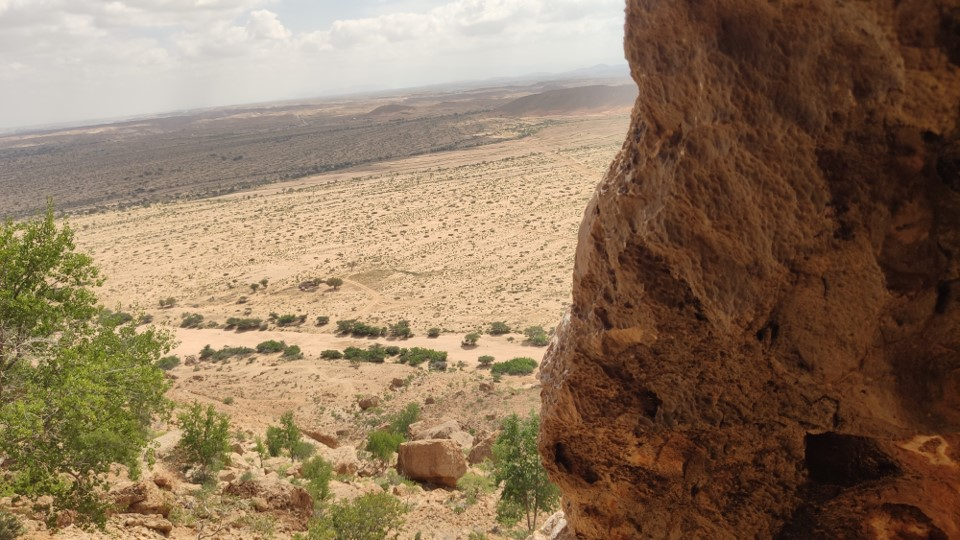 Utsikt från Mohameds grotta
